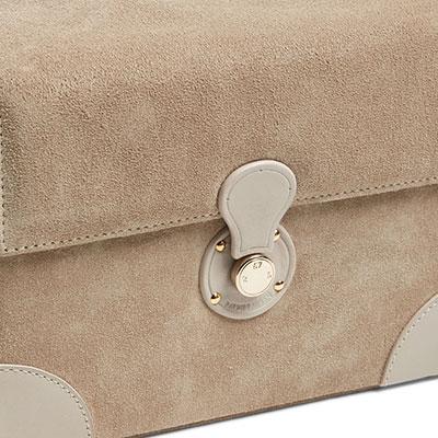 Ralph Lauren Brooke Tan Jewelry Box, Small