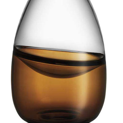 Kosta Boda Septum Vase, Golden Brown, Limited Edition of 300