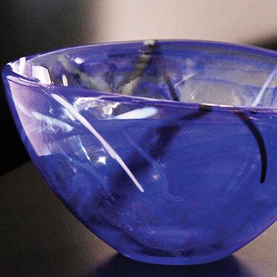 Kosta Boda Contrast Large Bowl, Blue