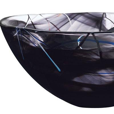 Kosta Boda Contrast Large Bowl, Black