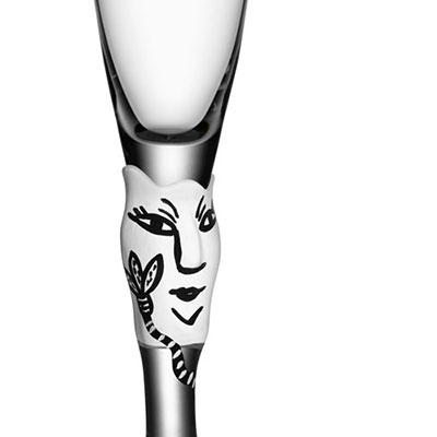 Kosta Boda Open Minds Shot Glass, White, Single