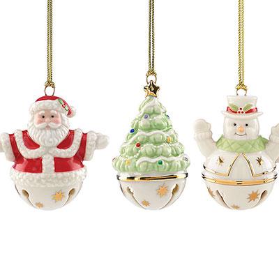 Lenox Figural Sleigh Bells Ornament, Set of 3