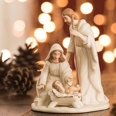 Belleek Living Nativity Holy Family