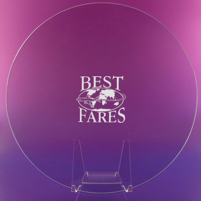 "Crystal Blanc, Personalize! 10"" Award Plate"