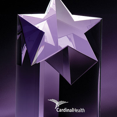 """Crystal Blanc, Personalize! Optic Rising Star, Small 6"""""""