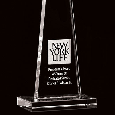 Crystal Blanc, Personalize! Obelisk Award, Medium