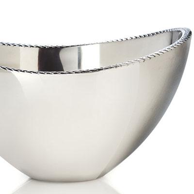 Nambe Metal Braid Serving 1.5 Qt Bowl