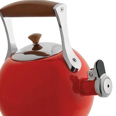 Nambe Metal Gourmet Meridian Tea Kettle, Red