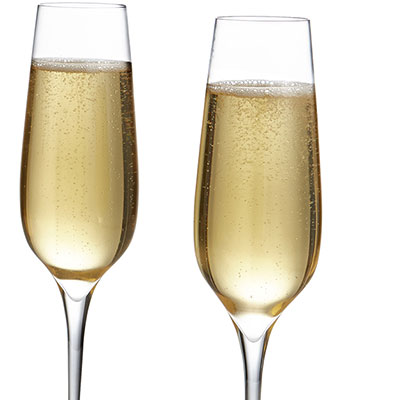 Nambe Vie Champagne Toasting Flute, Pair