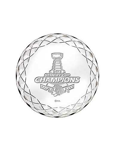 Waterford 2013 Chicago Blackhawks Stanley Cup Hockey Champions Paperweight