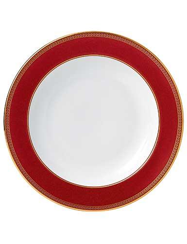 Wedgwood China Renaissance Red Rim Soup Plate, Single