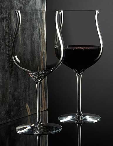 Waterford Elegance Burgundy Glass, Pair