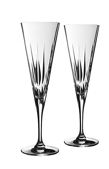 Vera wang wedgwood vera peplum toasting flute pair - Vera wang martini glasses ...
