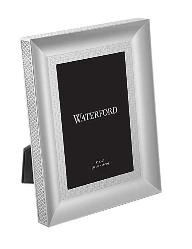 "Waterford Lismore Diamond Silver 4x6"" Picture Frame"