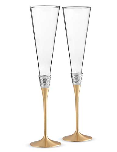Vera Wang Wedgwood With Love Gold Toasting Flute, Pair