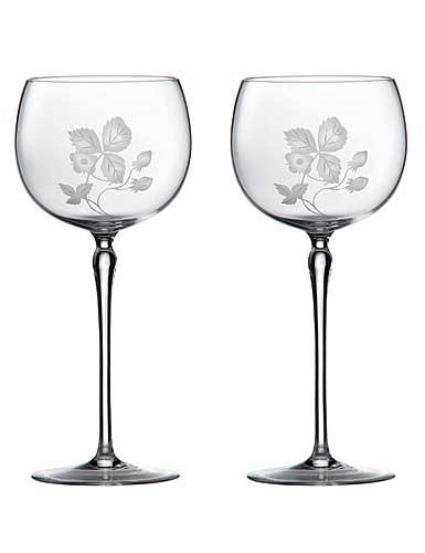 Wedgwood Wild Strawberry Al Fresco Glass Goblet, Pair