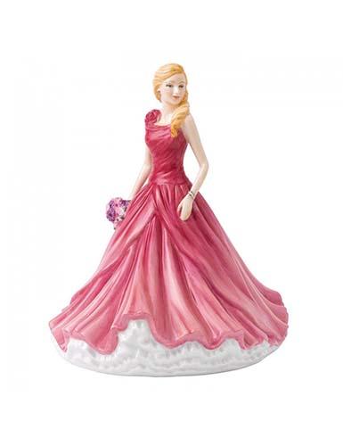 Royal Doulton China Pretty Ladies Sentiment Petites, All My Love