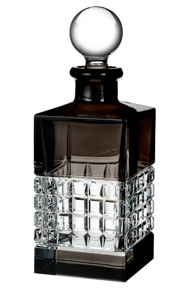 Waterford London Square Decanter, Smoke