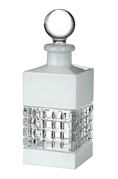 Waterford London Square Decanter, White