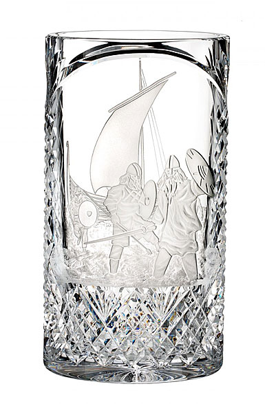 """Waterford House of Waterford Strongbow and the Battle of Waterford 12"""" Vase, Limited Edition of 60"""