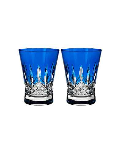 Waterford Lismore Pops Cobalt DOF, Pair