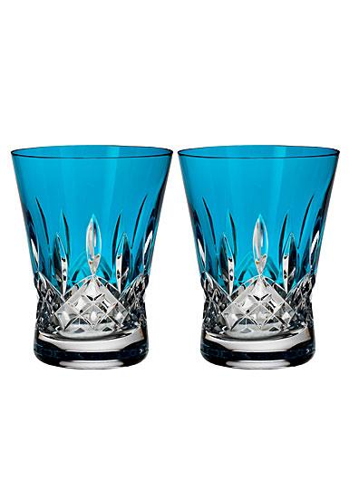 Waterford Lismore Pops Aqua DOF, Pair