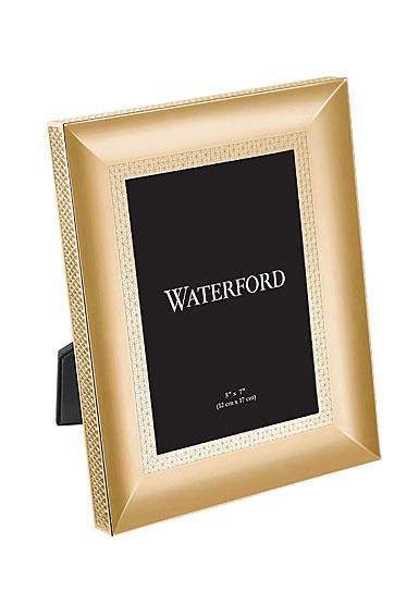 "Waterford Lismore Diamond Gold 5x7"" Metal Frame"