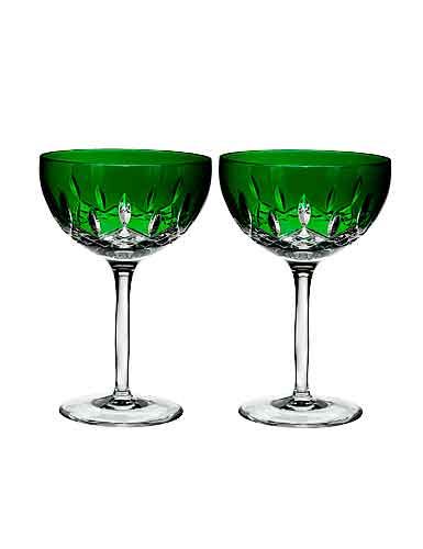 Waterford Lismore Pops Emerald Cocktail, Pair