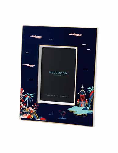 Wedgwood Wonderlust Blue Pagoda 4x6 Frame