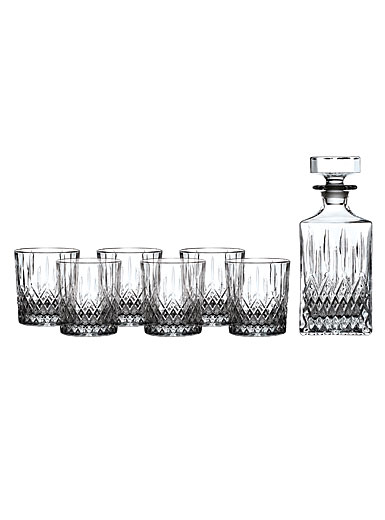 Royal Doulton Earlswood Whiskey Decanter and Tumbler, Set of Six