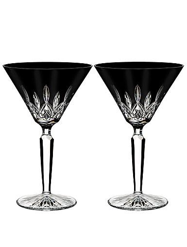 Waterford Lismore Black Martini, Pair