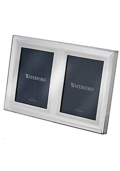 "Waterford Lismore Diamond Silver 5x7"" Double Invitation Frame"