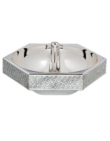 Waterford Lismore Diamond Silver Ring Holder