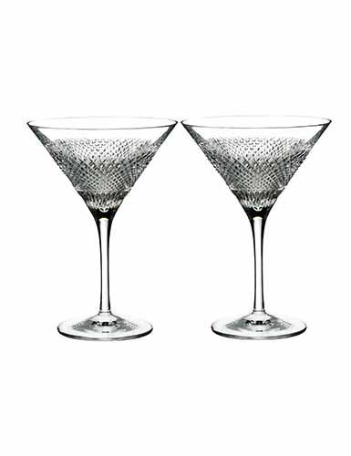 Waterford Diamond Line Martini, Pair
