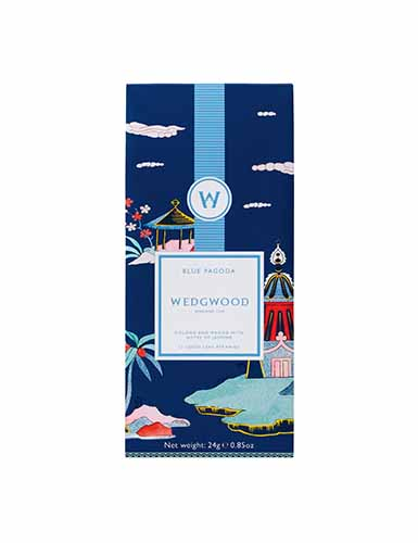 Wedgwood Wonderlust Blue Pagoda Oolong Tea, Box Set of 12