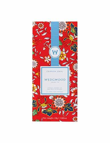 Wedgwood Wonderlust Crimson Jewel Fruit Infusion Tea, Box Set of 12