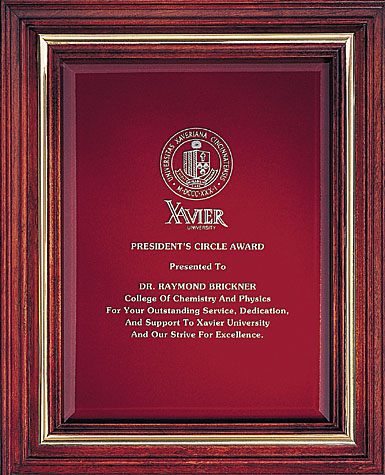 Crystal Blanc, Personalize! Cherry Award Plaque, Small