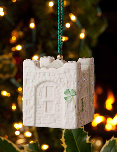 Belleek Bunratty Castle Bell Ornament