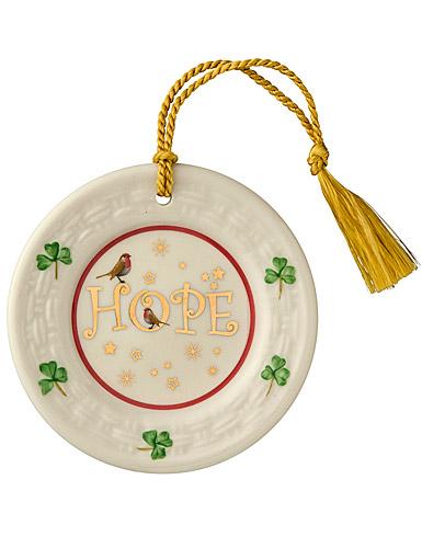Belleek China Hope Plate Ornament