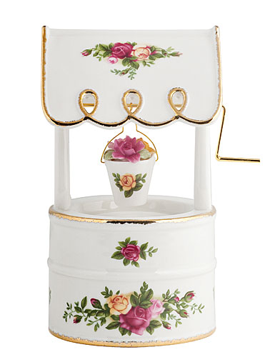 Royal Albert Old Country Roses Musical Wishing Well