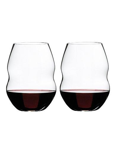 Riedel Swirl Red Wine Glasses, Pair
