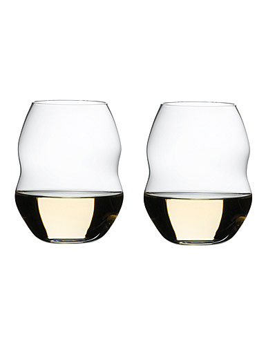 Riedel Swirl White Wine Glasses, Pair