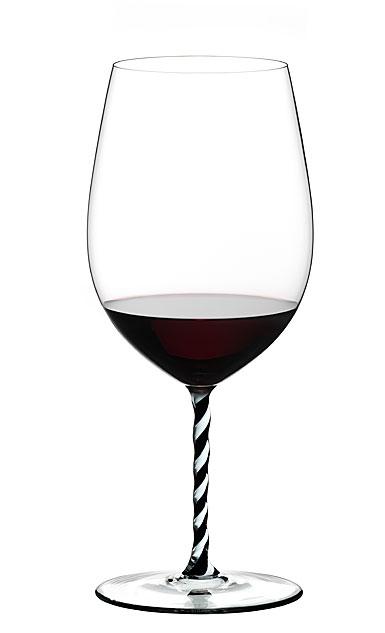 Riedel Fatto A Mano Bordeaux Grand Cru, Black and White Twist