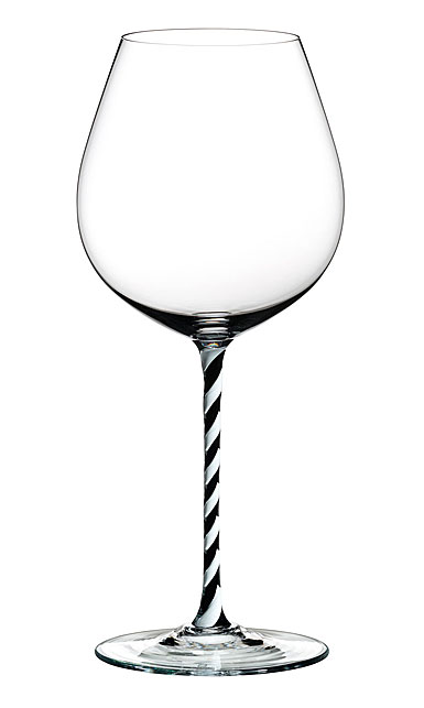 Riedel Fatto A Mano Old World Pinot Noir, Black and White Twist