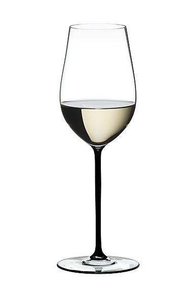 Riedel Fatto A Mano Riesling, Zinfandel Glass, Black