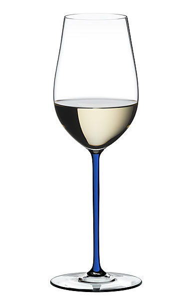 Riedel Fatto A Mano Riesling, Zinfandel Glass, Blue