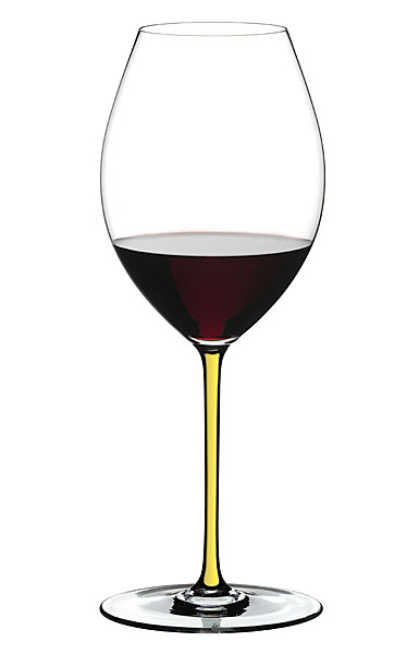 Riedel Fatto A Mano, Old World Syrah Crystal Wine Glass, Yellow