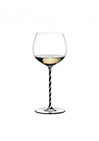 Riedel Fatto A Mano Oaked Chardonnay, Black and White Twist