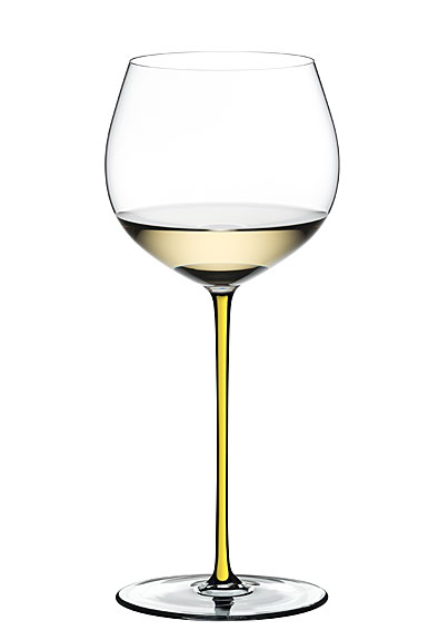 Riedel Fatto A Mano Oaked Chardonnay Glass, Yellow