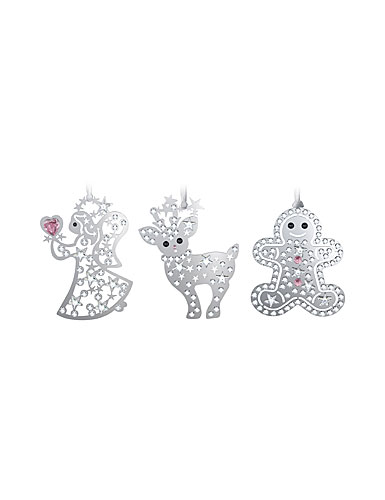 Swarovski Holiday Ornaments, Set of 3, 2013